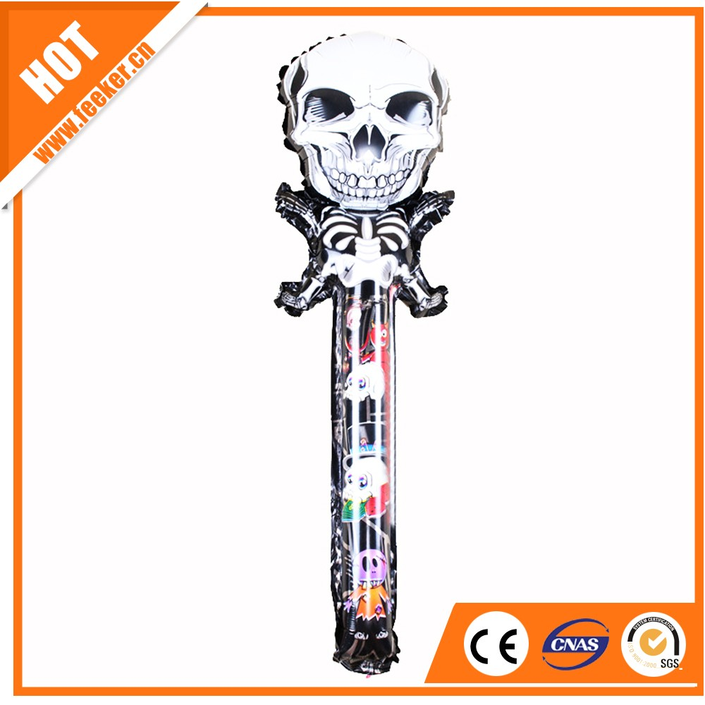 Custom made inflatable helium balloon as gift and toy Human skull foil balloon