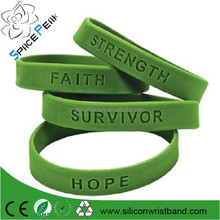 Custom Green Cancer Awareness Support Silicone Bracelets With Sayings