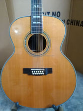 wholesale cheap solid OEM custom 12 string acoustic electric guitar left handed 12 string guitar