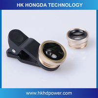 2016 New mobile accessories 3 in 1 fisheye supplier, wide angle and macro lens kit for all smart phones
