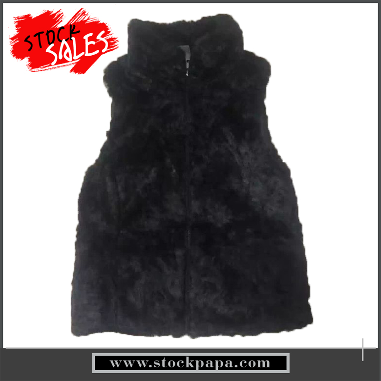 wholesale sleeveless girl winter pretty warm zipper up fur vest
