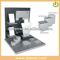 Countertop Rotating Jewelry Display Stand With Poster