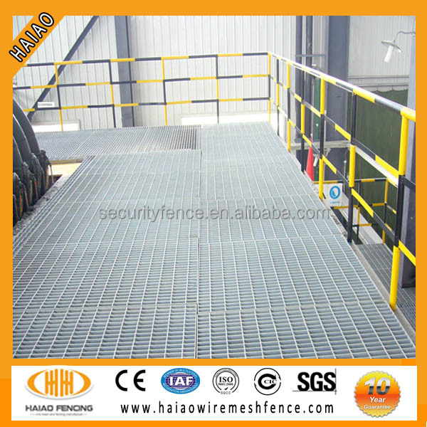 (ISO9001)Factory sale high quality hot dip galvanized steel floor grating prices