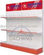 Light Duty Display Rack With 80kg/shelf Loading Capacity and Advisting Picture