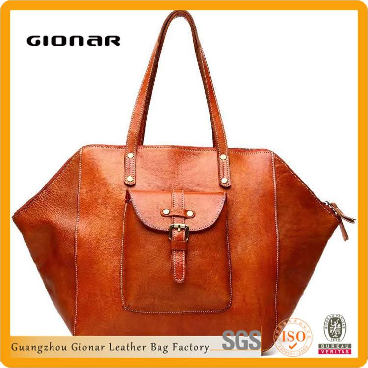Vintage Large Volume Specialized Wing Top Oil Leather Handbags Wholesale 2015 Fashion Lady London