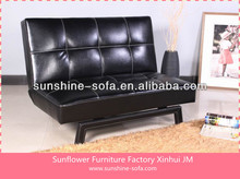 Simple Leather 2 Seat Soa Bed Furniture