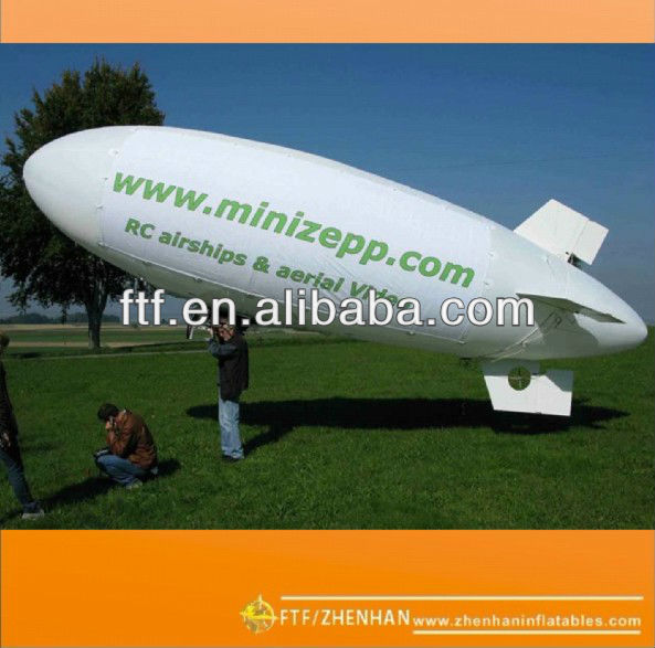 Top selling PVC Inflatable helium white blimp