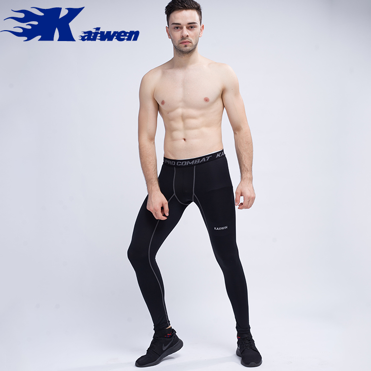 Fashion Design Breathable Nylon And Spandex Men Compression Gym Pants