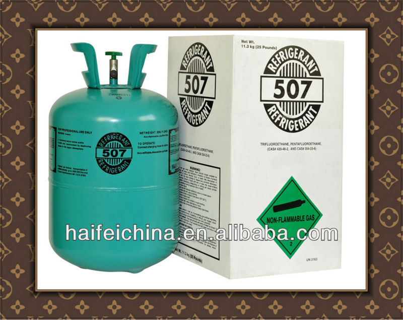 R507 mixed refrigerant a blend refrigerant of HFC125/HFC134A/R600. Mainly it is a substitute of gas