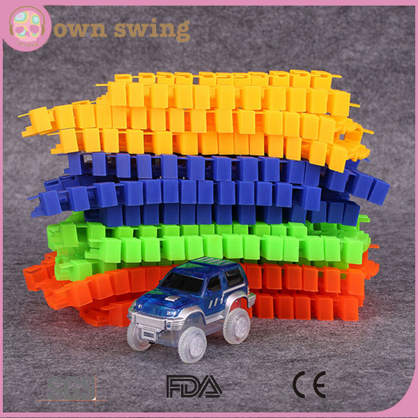 Colorful Glow Electromotive Magic Tracks/Children Toys Track toys car/TV product hot sale car toys
