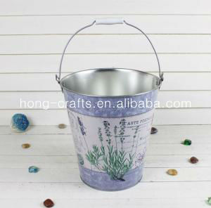Marks and Spencer! Galvanized antique flower buckets with lid