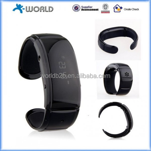Black Fashionable and Comforatble Wristband for Bluetooth-enabled Mobiles for Samsung, Huawei, iPhone,iPad and Nokia etc