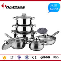 High Quality Sandwich Bottom Stainless Steel Cookware Set Non Stick, Stainless Steel Kitchenware Wholesale