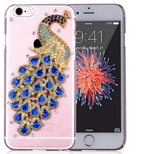 2016 Peacock Diamond Case, Bling Bling Crystal Peacock Phone Case Cover For Iphone 6