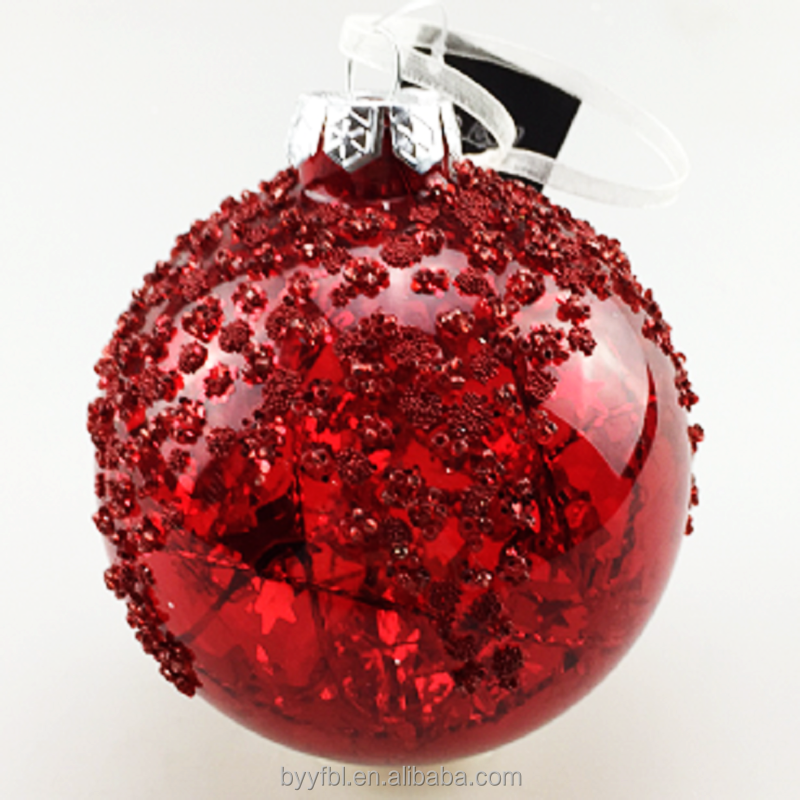 Large outdoor glass balls christmas tree hanging decoration