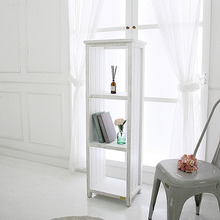 Antique white modern solid wood storage furniture book <strong>shelf</strong>