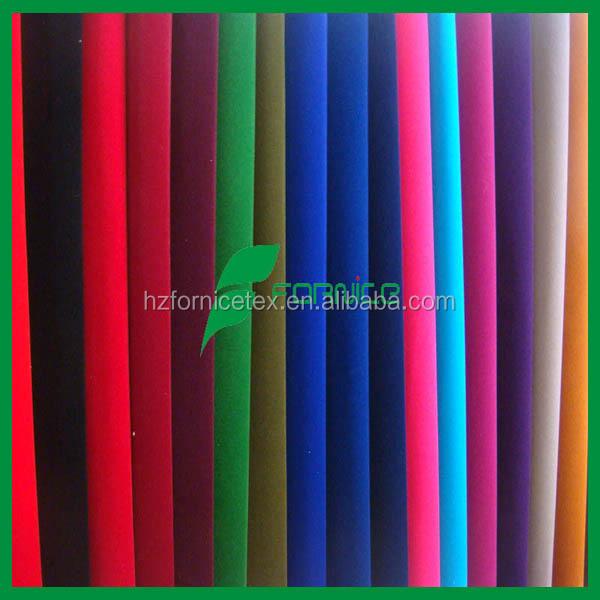 100% nylon cheap price plain tricot flock fabric for jewellery box