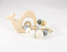 Wholesales Wooden Baby Teethers Toys Kids Cute Animal Shaped Chewing Teething Toy