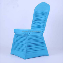 New Wedding Pleated Fabric Lycra Ruffled Chair Cover for Banquet/Hotel/Wedding