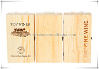 Customized Double Wine Bottles Wooden Box