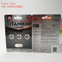 Hot Stamping Titanum Sex Pill Packing blister paper Card for Male Enhancement Capsules Paper Box