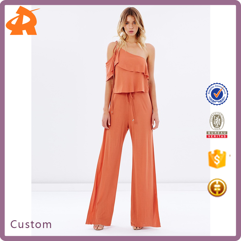 New Design Loose Jumpsuit Women Plus Size One-shoulder For Women 2017