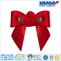 pre-made satin ribbon pull bows for wedding decoration