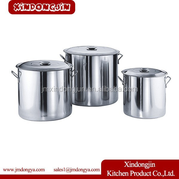 TT-8090 stainless steel stock pot/big cooking pot for India market/large stainless steel stock pots with steamer