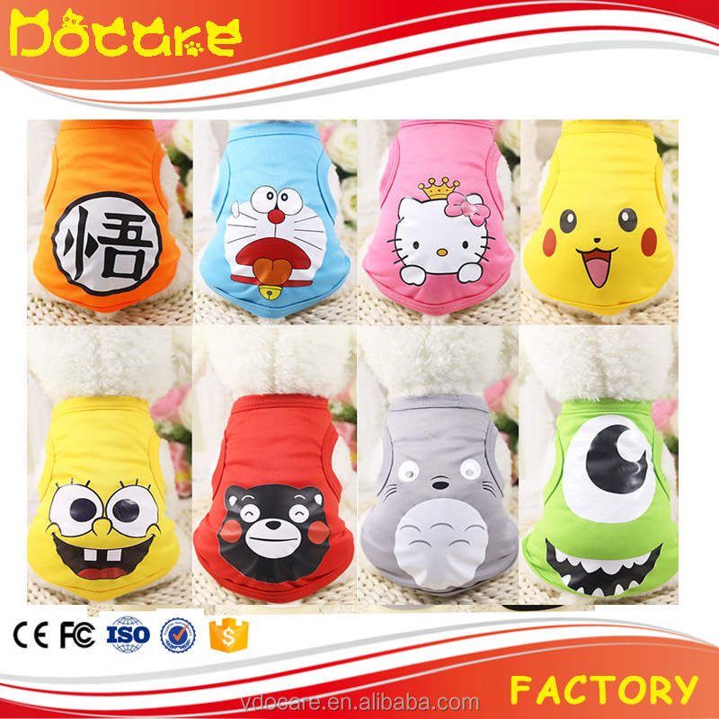 Pet Dog Clothes Cotton Vest Cool Customization Pet Clothes