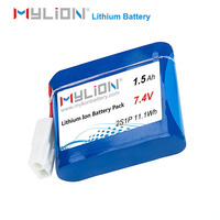 7.4V 1.5ah 14500 Li-ion Battery