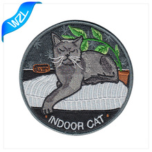 Hot Selling custom merrowed border iron on embroidery patch