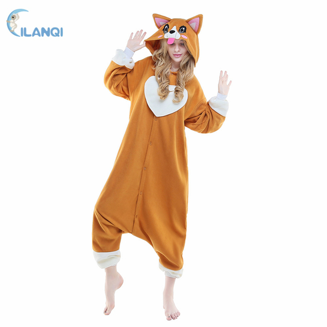 ALQ-A035 Animal hooded women dresses winter cosplay plus size onesie