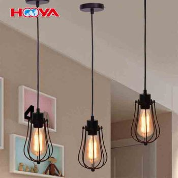 1Head Industrial Vintage Style Home Bar Restaurant Wire Cage Chandelier Pendent Lamp