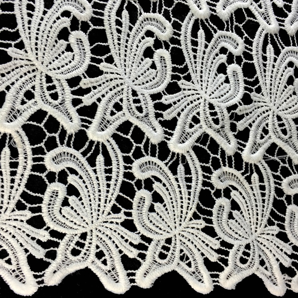 best quality black stretch lace fabric for making clothes or dress BK-FB216