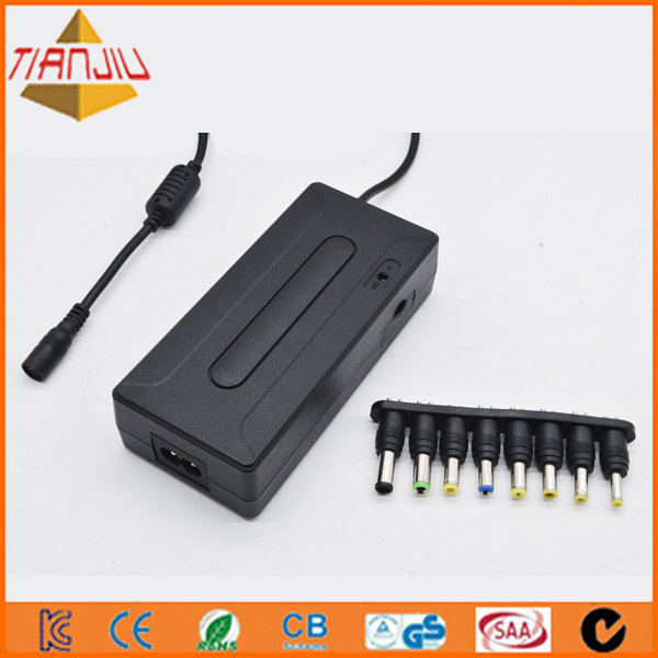 90w universal notebook charger with Double USB port 5V 1A