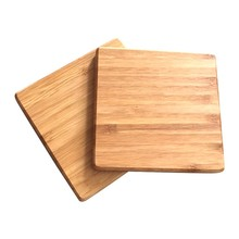 Cheap Price custom design wood bamboo hard board MDF antique wine bottle coaster