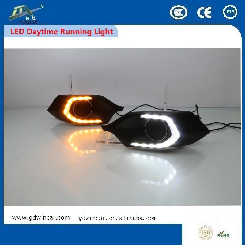 Auto Parts Accessories 12v <strong>Led</strong> Drl Daytime Running Light For New Mitsubishi Pajero Sport