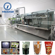 tomate sauce spouted pouch doypack filling and screw cap packing machine