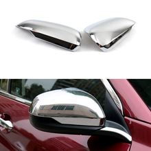 1 Pair Car Rearview Mirror Cover Decorative Frame ABS Chrome Exterior Accessories For Honda HRV HR-V 2014 2015