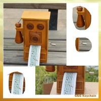 Wooden DIY Musicsheet Paper Strip Handcrank Musical Box MB 023-2