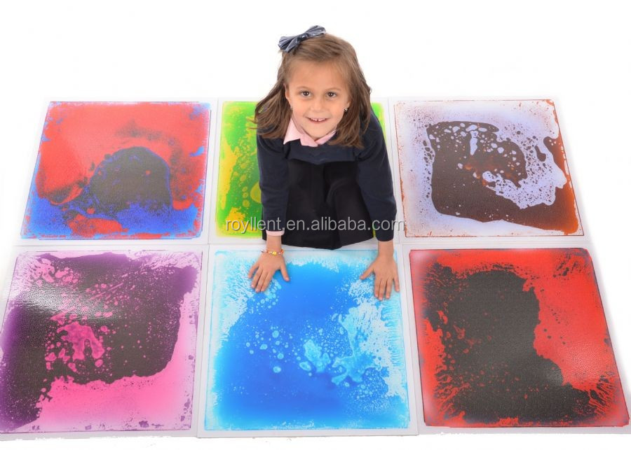 Royllent Motion Liquid Floor Tiles Pack of 6 Special Needs Educational Toys Sensory Item 50x50cm