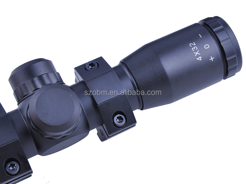 Riflescope 4x32 Tactical Red and Green Light Rifle Gun Scope Sight Hunting Telescopic Sight Accessories