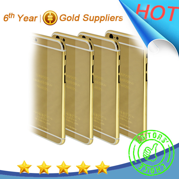 24kt gold limitited edition for iphone 6 housing OEM accepted