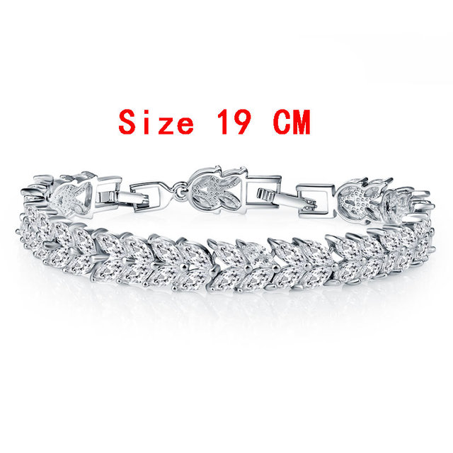 FYM Colorful Cubic Zirconia Bracelet for Women Rose Gold Plated Snake Chain Jewelry Bracelets Luxury Engagement Jewelry BR0004