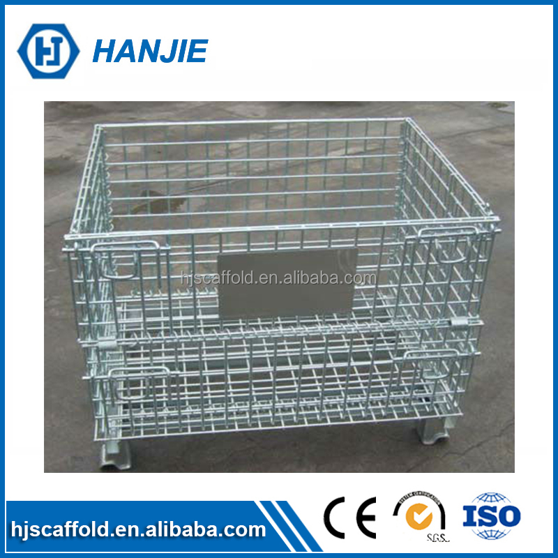 Professional welding steel cages 10mm wire mesh baskets storage
