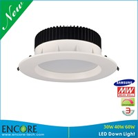 30W Comercial Strong Clip Meanwell Driver 8 Inch Samsung Downlight for Supermarket