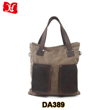 Wholesale Leisure Style Canvas Mens Shoulder Bag Tote Bag Handbag