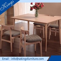 Alibaba High Grade Table Oak Wood Dining Table Chairs
