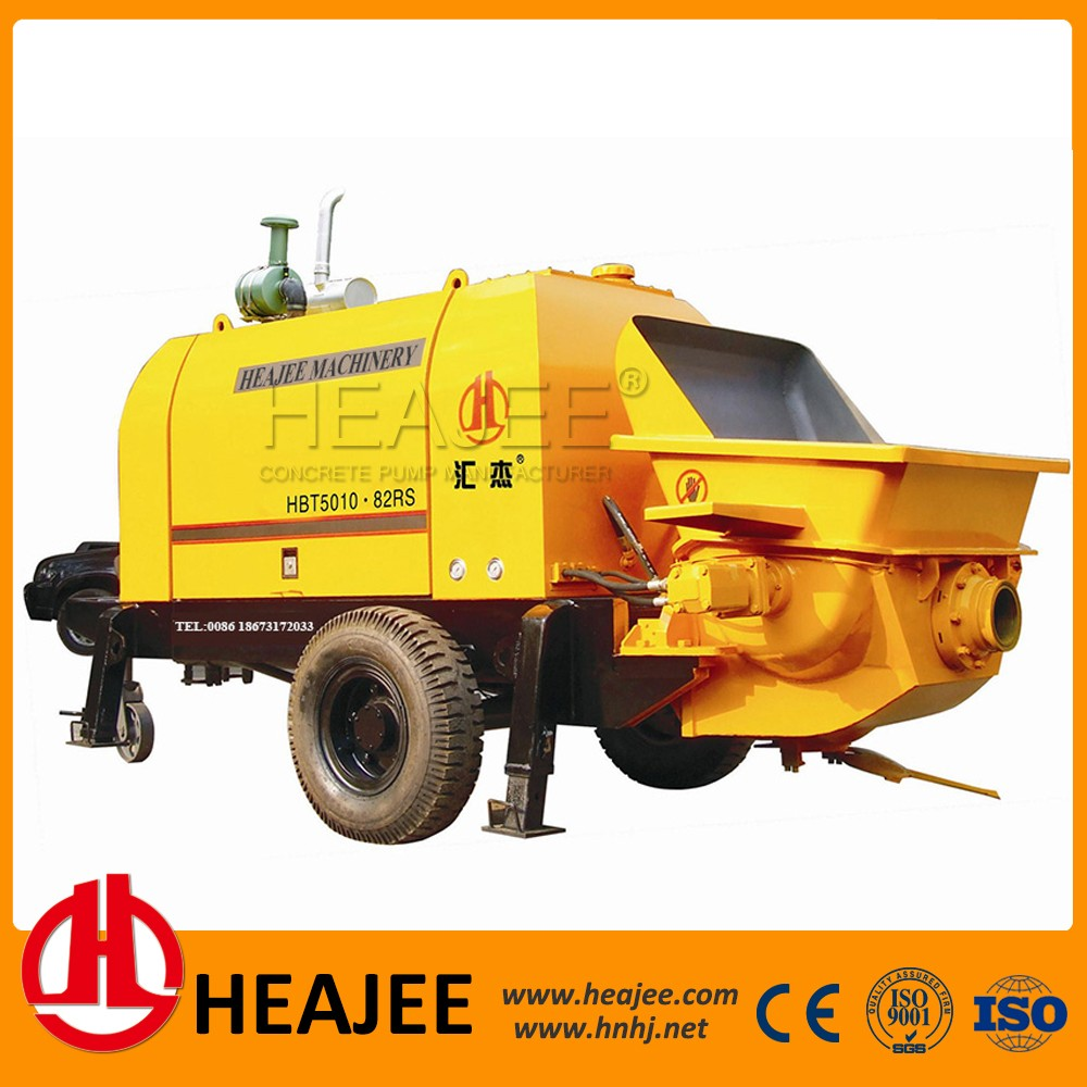 diesel engine concrete pump/small portable used for concrete conveying