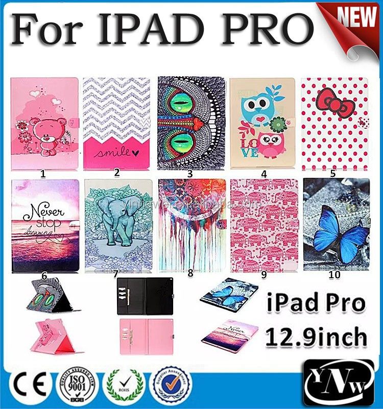 New colorful painted PU leather case for iPad Pro